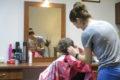W kolejce do fryzjera…